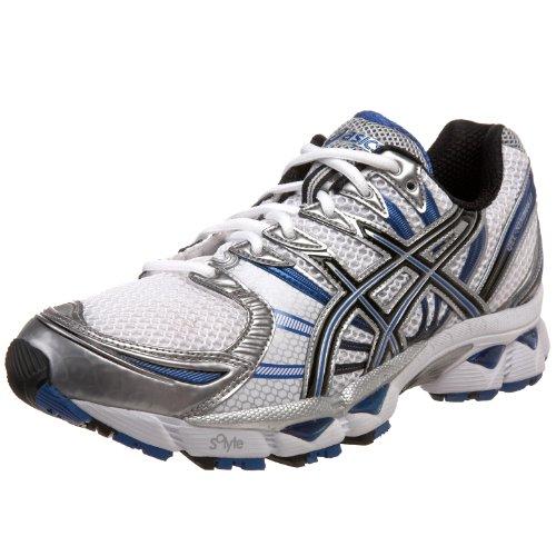 ASICS Men's GEL-Nimbus 12 Running Shoe,White/Black/Royal,15 M US
