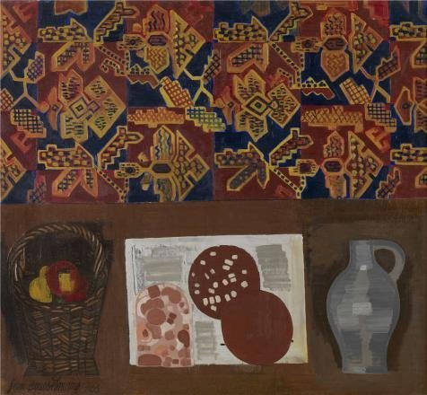 Oil Painting 'Jean Brusselmans - Still Life, 1956', 18 x 19 inch / 46 x 49 cm , on High Definition HD canvas prints is for Gifts And Basement, Bed Room And Powder Room Decoration, giant (Horse Trailer Butt Chain compare prices)