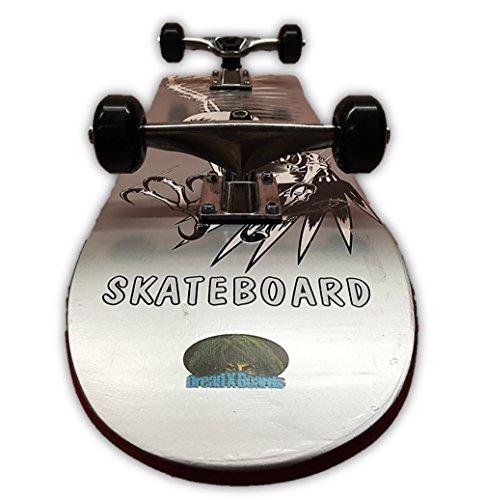 Dreadxboards 31x8-inch Winged Skeleton Maple Skateboard