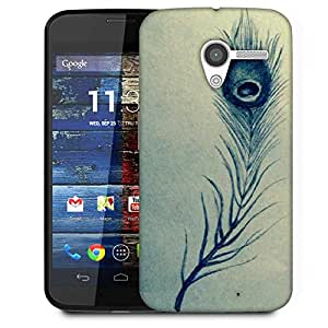 Snoogg Feather Abstract Designer Protective Phone Back Case Cover For Moto X / Motorola X
