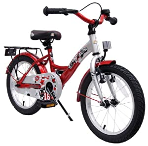 bike*star 40.6cm (16 Inch) Kids Children Bike Bicycle - Colour Silver & Red