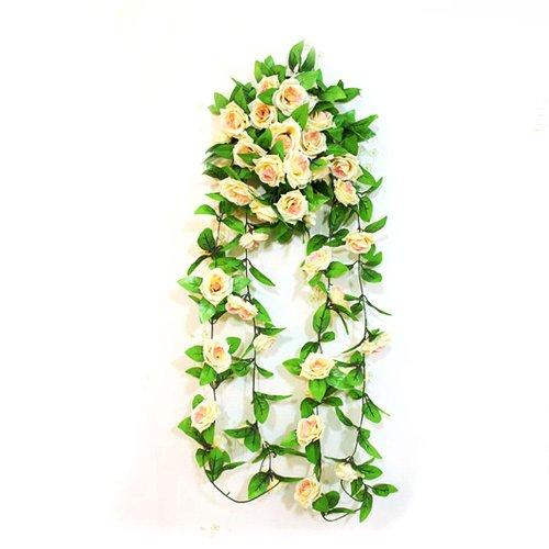 pianta-artificiale-fiore-rosa-cadente-champagne-per-decoro-casa-nozze