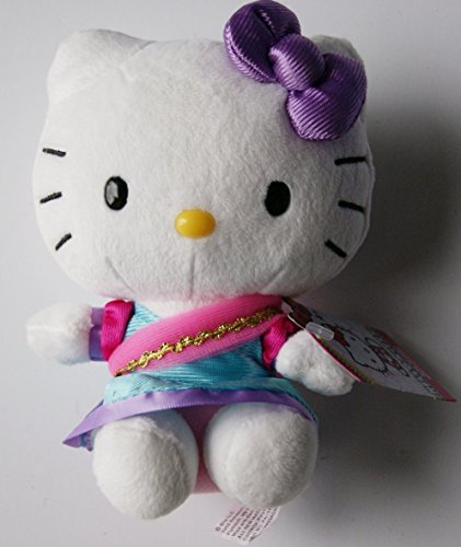 "Hello Kitty Mini Plush Doll in Sari - 6"""