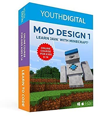 Mod Design 1 – Kids Ages 8-14 Learn to Code in Java with Minecraft ® (PC & Mac) [Online Code]