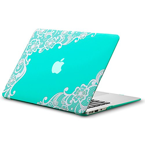 Why Should You Buy Kuzy - AIR 13-inch Lace TEAL Hot BLUE Rubberized Hard Case for MacBook Air 13.3 ...