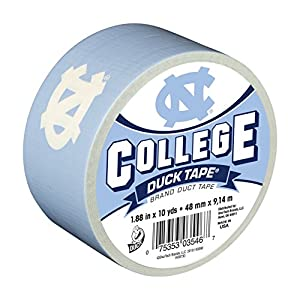 Duck Brand 240074 University of North Carolina College Logo Duct Tape, 1.88-Inch by 10 Yards, Single Roll