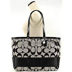 COACH SIGNATURE STRAP DIAPER LAPTOP BAG TOTE 13803