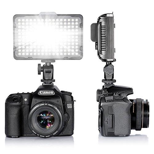 Bestlight® Foto Studio Illuminatore 176 Luci LED Dimmerabile Ultra Luminoso per Videocamera Canon,Nikon,Pentax,Panasonic,Sony,Samsung,Olympus e altre Videocamere Digitali SLR(PT-176S)
