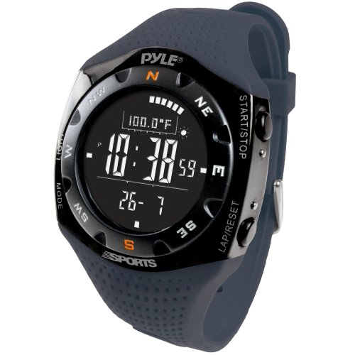 Pyle Sports Pskiw25Bl Ski Master V Professional Ski Watch W/ Max. 20 Ski Logbook, Weather Forecast, Altimeter, Barometer, Digital Compass,Thermometer (Blue Color)