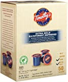 Timothy's World Coffee, Rainforest Extra Bold Espresso for Keurig Brewers, 50-Count K-Cups Reviews