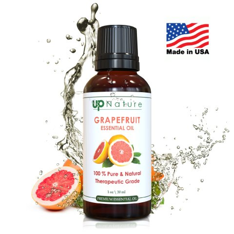 Grapefruit Essential Oil by UpNature: 1 OZ Extract From Grapefruit Seeds - 100% Pure & Natural, Premium Quality - With Glass Dropper - Create Good Scents With Your Diffuser - For Aromatherapy