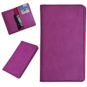 DCR Pu Leather case cover for Spice Stellar 526 (pink)