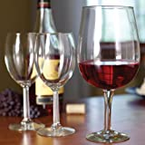 Home-X Extra-large XL Wine Glass. Holds a Full Bottle of Wine (2 Pack)