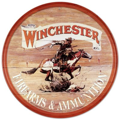 cartel-de-chapa-anuncio-de-armas-y-municiones-winchester-con-jinete-tamano-30-x-30-cm