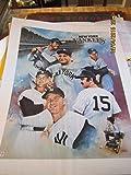New York Yankees Mickey Mantle Munson Maris Ruth 1985 poster M1