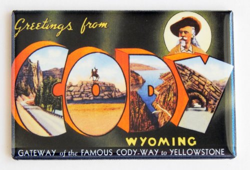 Greetings From Cody Wyoming Fridge Magnet (2 x 3 inches) (Buffalo Bills Fridge Magnet compare prices)