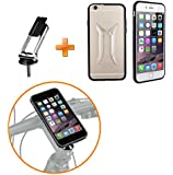 "JEBSENS - [Holiday Season Promotiom!] CGI6 New ClipGRIP Stemcap Bike Mount Cell Phone Smartphone Holder with ClipGrip Riding Case for iPhone 6 4.7"", Fits All Bike with Stem Cap, Perfect for Cycling, Mountain Bike, MTB, etc."