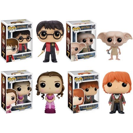 Funko Harry Potter POP! Movie Vinyl Collectors Set: Harry Triwizard, Dobby, Hermione Yule Ball and Ron Yule Ball Vinyl Figures