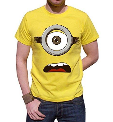 t-shirt GIALLA just minion - minions - S M L XL XXL maglietta by tshirteria