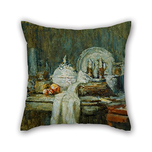 Beautifulseason Oil Painting William L. Carrigan - Souvenir Of Chardin Throw Christmas Pillow Case 18 X 18 Inches / 45 By 45 Cm For Relatives Christmas Wedding Home Bedding Boys With Both Sides (Blackbird Food Co compare prices)