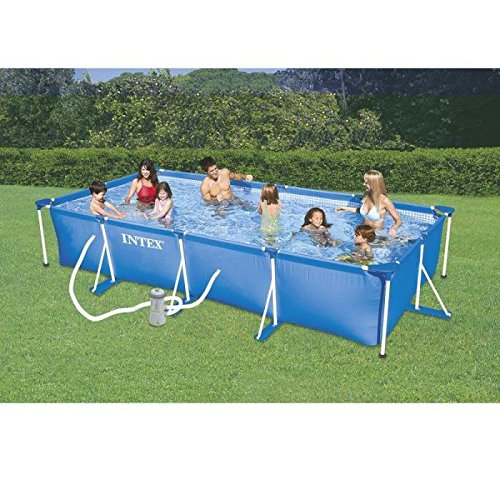 piscine tubulaire rectangulaire jusqu 41 pureshopping On piscine intex 3x2