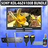 Sony Bravia Z-Series KDL-46Z4100/B 46-Inch 1080p (Black) and Wall Mount Accessory Kit with Flat Pane
