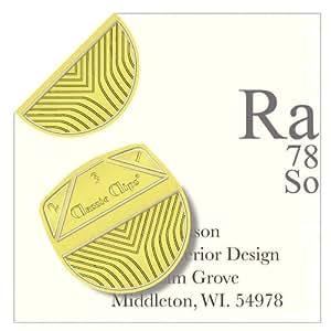 Amazon.com - Classic Clips ® - Zebra Gold - Paper Fasteners -300