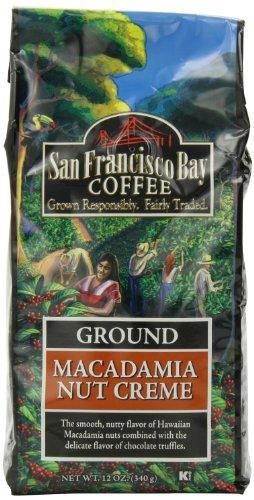 San Francisco Bay Coffee Ground Macadamia Nut Creme Coffee, 12-Ounce Bag