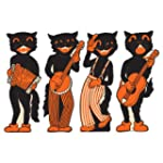 Beistle 4-Pack Scat Cat Band Cutouts,...