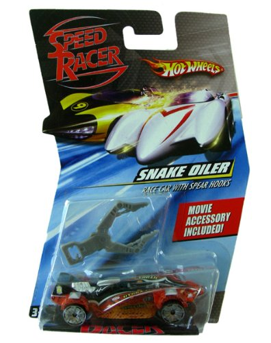 Speed Racer Snake Oiler Race Car With Spear Hooks- Hot Wheels Character Model Car front-764756