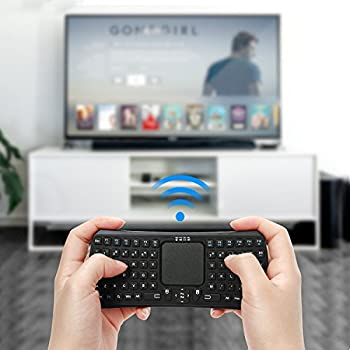Mini Bluetooth Keyboard, Jelly Comb Rechargable Handheld Remote Control Wireless Mini Keyboard with Mouse Touchpad for PC, SAMSUNG Galaxy, Surface, Android / Windows Tablet Smartphone