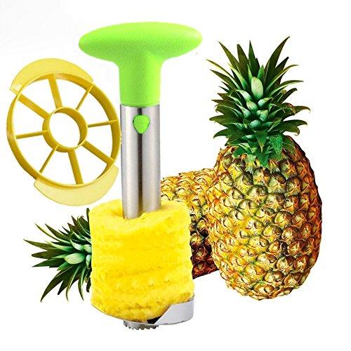 SameTech Easy Kitchen Tool Stainless Steel Fruit Pineapple Peeler Corer Slicer Cutter (Steel Pineapple Slicer compare prices)