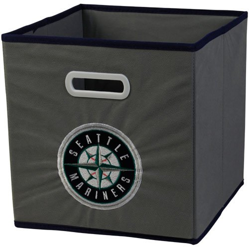 MLB Seattle Mariners Fabric Storage Drawer, One Size, Gray