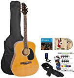 Gregg Bennett Acoustic Guitar Pack (GD50PK) with Tuner, Guitar Bag, Strings, Strap, Chord Chart, DVD and Pick Sampler