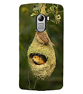 ColourCraft Birds and Nest Design Back Case Cover for LENOVO VIBE X3 LITE