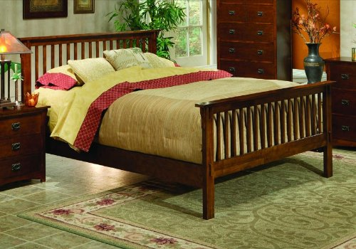 Mission Style Bedroom Queen Size Brown Bed Room Frame