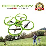 UDI 818A HD+ RC Quadcopter Drone with HD Camera, Return Home Function and Headless Mode - 2.4GHz 4 CH 6 Axis Gyro RTF - Includes BONUS BATTERY Doubles Flying Time
