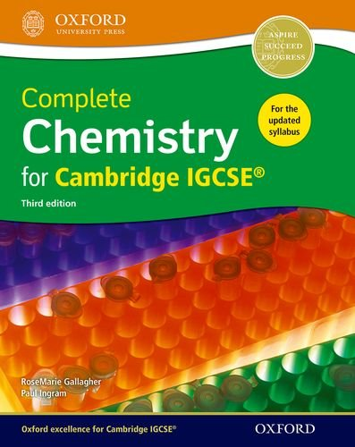 Complete science for Cambridge IGCSE complete chemistry for Cambridge IGCSE. Per le Scuole superiori (Complete Science Igcse)