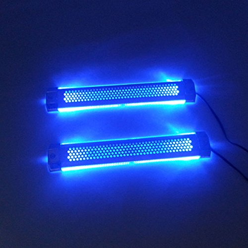 AODE® 2x Car Ice-Blue Led Light Glow Interior Decorative Atmosphere Neon Lamp 130009
