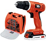 Black & Decker BDC120VA100 20-Volt Lithium-Ion Drill Kit with 100 Accessories