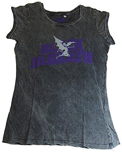Black Sabbath - Top - T-shirt  - Collo a U  - Donna grigio Large