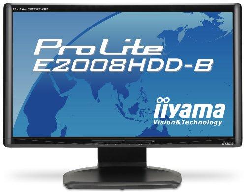 iiyama 20インチワイド液晶ディスプレイ 1600×900(HD+)対応 2系統入力装備 マーベルブラック PLE2008HDD-B1