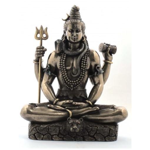 Indischer-Gott-Shiva-mit-Dreizack-Hinduismus-Figur-Indien