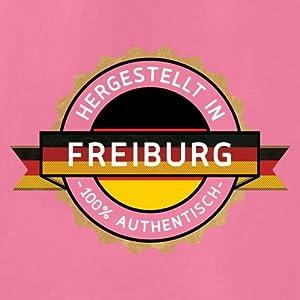Hergestellt In FREIBURG 100% Authentisch - Witziges Baby T-Shirt - 8 Farben - 3 bis 24 Monate