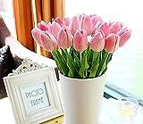Blume mit Blättern für Hochzeits-Blumenstrauß Dekoriere Kunstblumen in 7 Farben