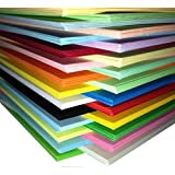 A4 CARD 250 SHEET PACK COLOUR - 25 ASSORTED COLOURS 160gm