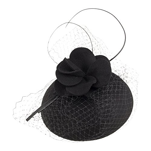 Failsworth Hats Diane Pillbox With Netting - Black Black 1-Size