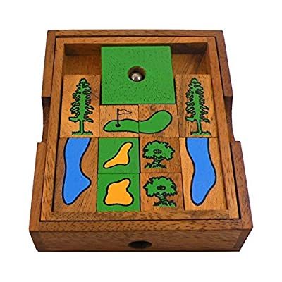 BRAIN GAMES Golf Field Wooden Puzzle