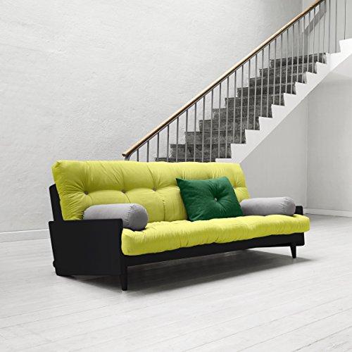 Karup-Indie-Sofa-Bett-Futon-natur-Holz-Rahmen