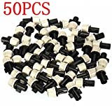Generic New Hot Sale 50PCS Plastic Misting Nozzle Sprinkler Greenhouse Flower Plant Sprinkler Nozzles Tee For...